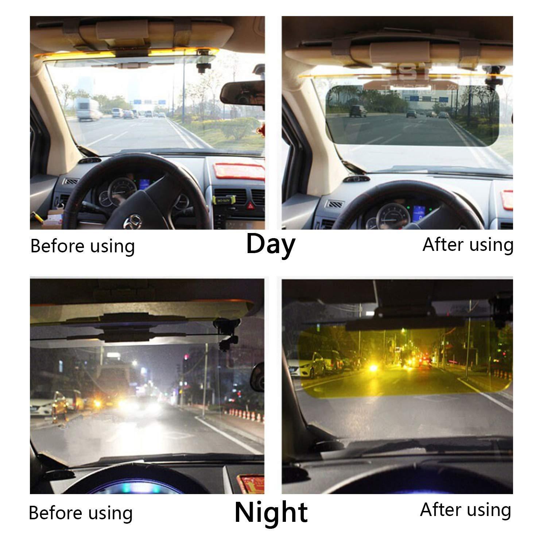 HNYYZL Car Sun Visor 2 in 1 Anti-Glare Visor Day//Night Car Visor Extender Car Sunshade Windshield Driving Visor,Anti-Glare Car Visor Extender(Universal)