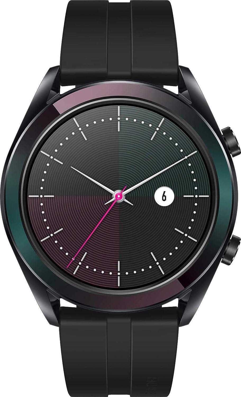 Huawei Watch GT Elegante- Montre Connectée (GPS, Ecran AMOLED tactile, boitier Inox 42mm, autonomie jusquà 7 jours) avec Bracelet Noir: Amazon.fr: High- ...