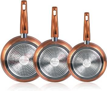 Magefesa Granada - Set Juego 3 Sartenes 20-24-28 cm Aluminio Forjado, inducción, Antiadherente Libre de PFOA, Limpieza lavavajillas Apta para Todas Las cocinas, vitroceramica, Gas: Amazon.es: Hogar