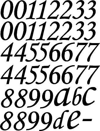 XL SET 46 Stück Selbstklebende Ziffern, Zahlen, Buchstaben schwarz ...