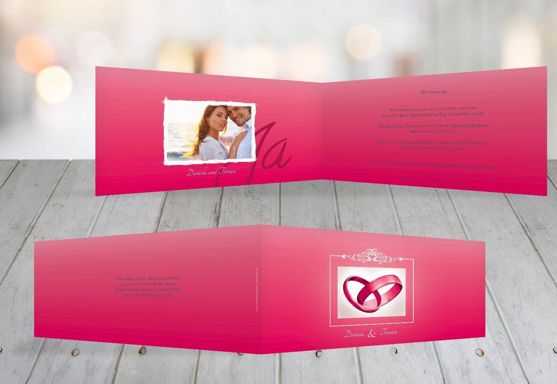 Kartenparadies Hochzeitskarte Hochzeit Einladung Din Ringetausch, hochwertige Einladung zur Heirat Heirat Heirat inklusive Umschläge   10 Karten - (Format  215x105 mm) Farbe  flamingoOrangerot B01N134DIP | Um Sowohl Die Qualität Der Zähigkeit Und Härte  | Qualita 36d990