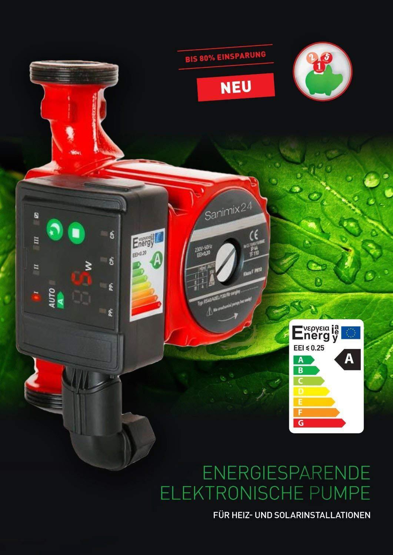 Circulateur électronique RS 25-60 / 180 à haute rendement énergétique pour chauffage central DIAM
