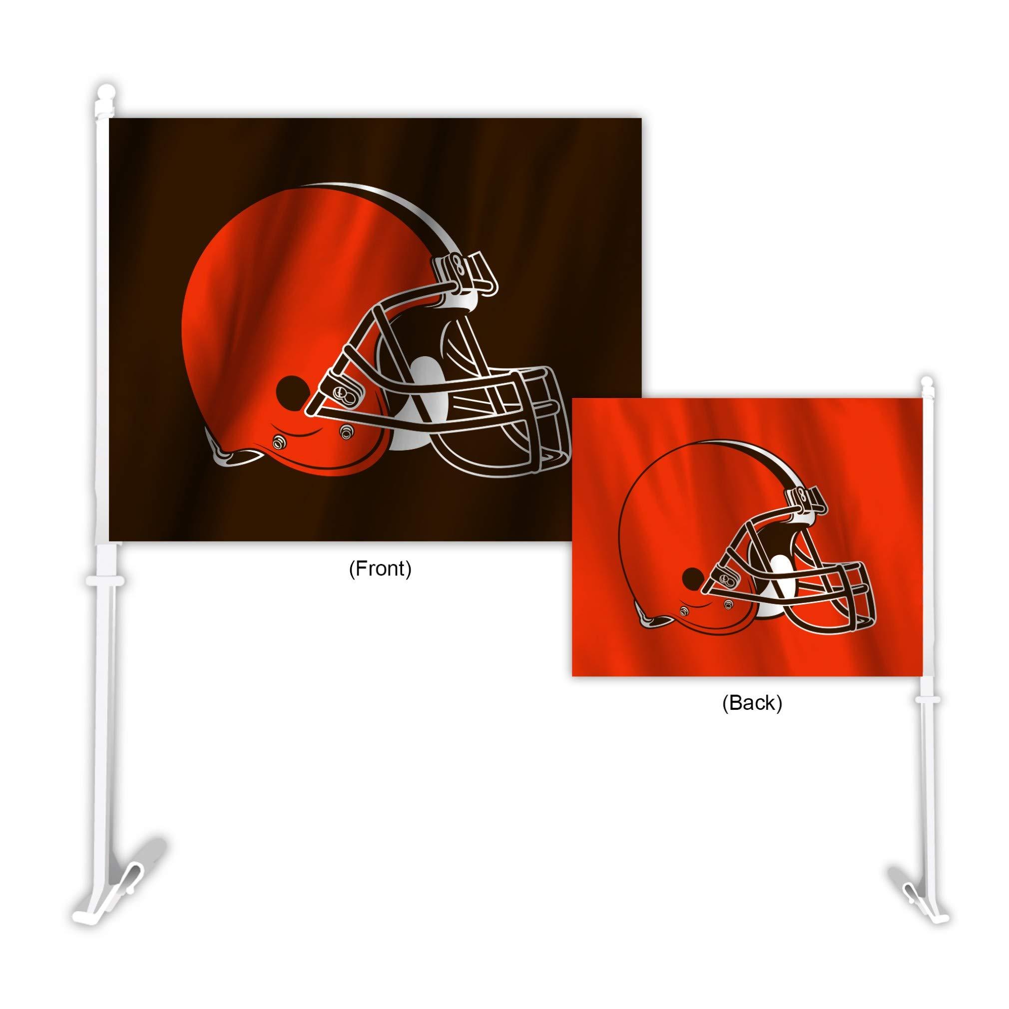 Fremont Die NFL Cleveland Browns Home & Away Car Flag
