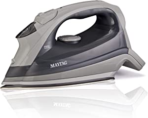 Maytag Speed Heat Steam Iron & Vertical Steamer with Stainless Steel Sole Plate, Self Cleaning Function + Thermostat Dial, M200 Grey