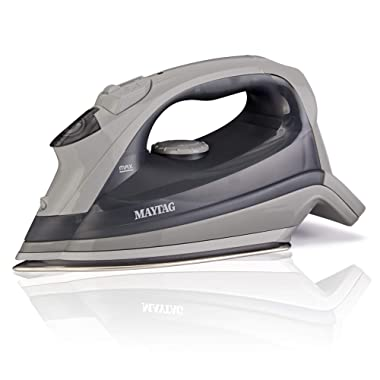 Maytag Speed Heat Steam Iron & Vertical Steamer with with Stainless Steel Sole Plate, Self Cleaning Function + Thermostat Dial, M200 Grey,