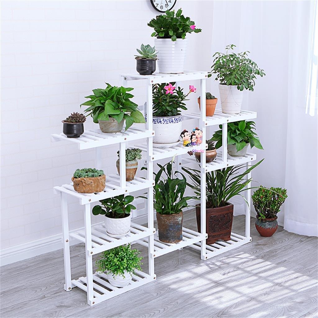 Weiss Mehrstckiger Boden Woody Blumenrahmen Balkon Innenraum Modern Wohnzimmer Blumen Racks Online Bestellen