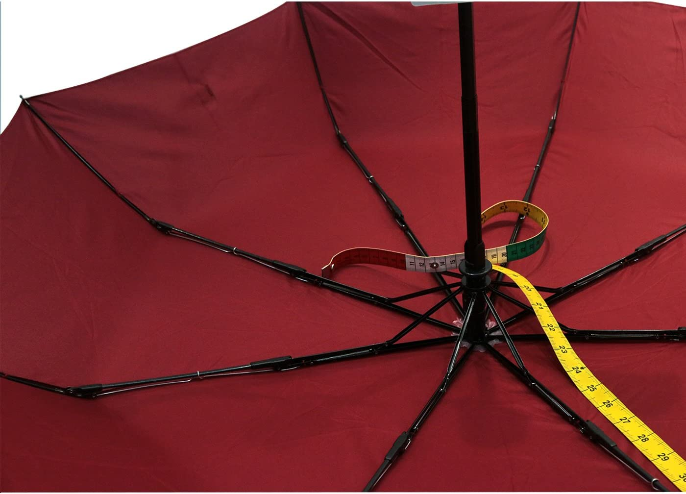 WINE MEROCKER Teflon Coated Auto Open and Close Umbrella Compact Travel Umbrella Waterproof and Windproof Function Slim Size