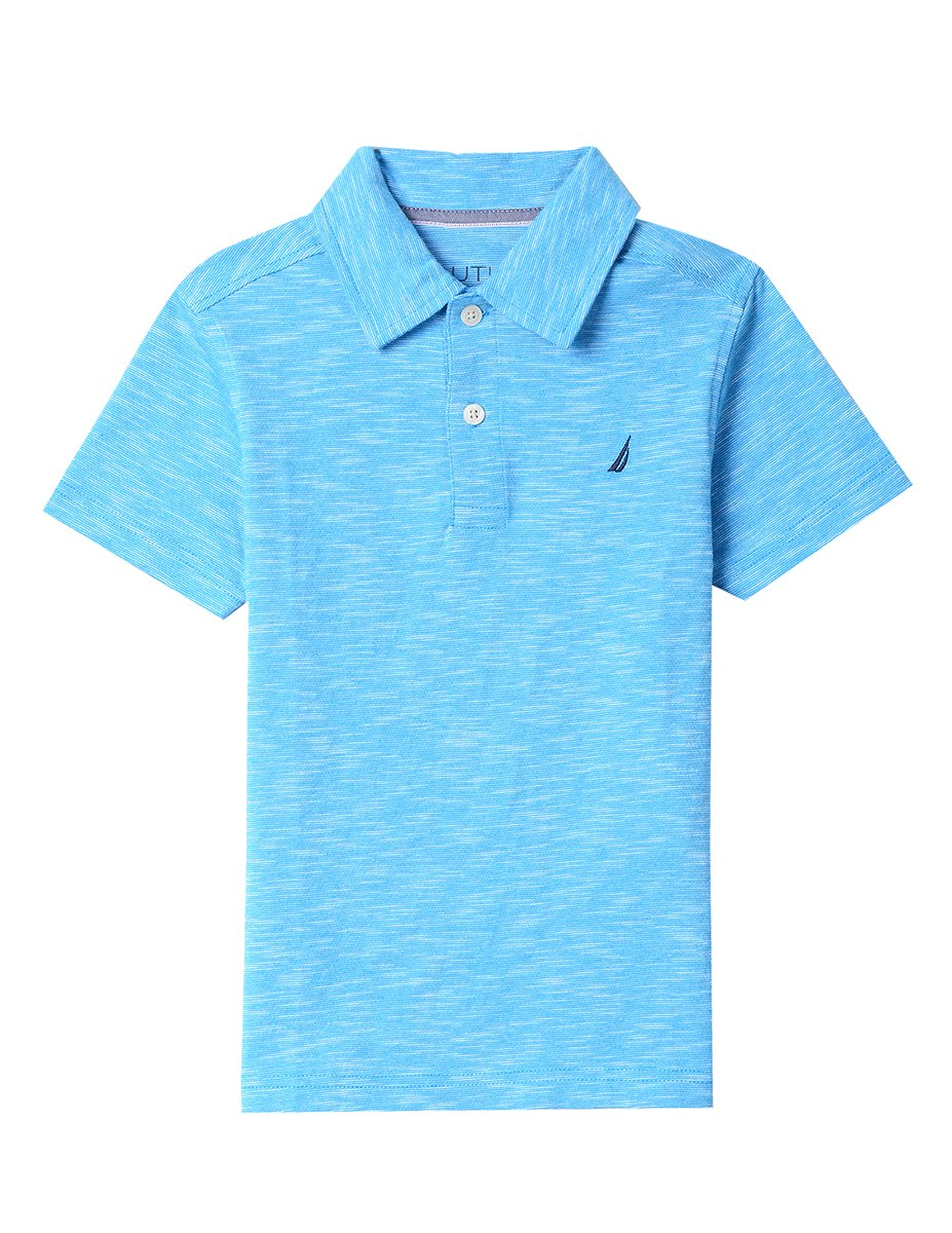 Nautica Boys' Short Sleeve Heritage Polo Shirt, WHITE, Large (7)