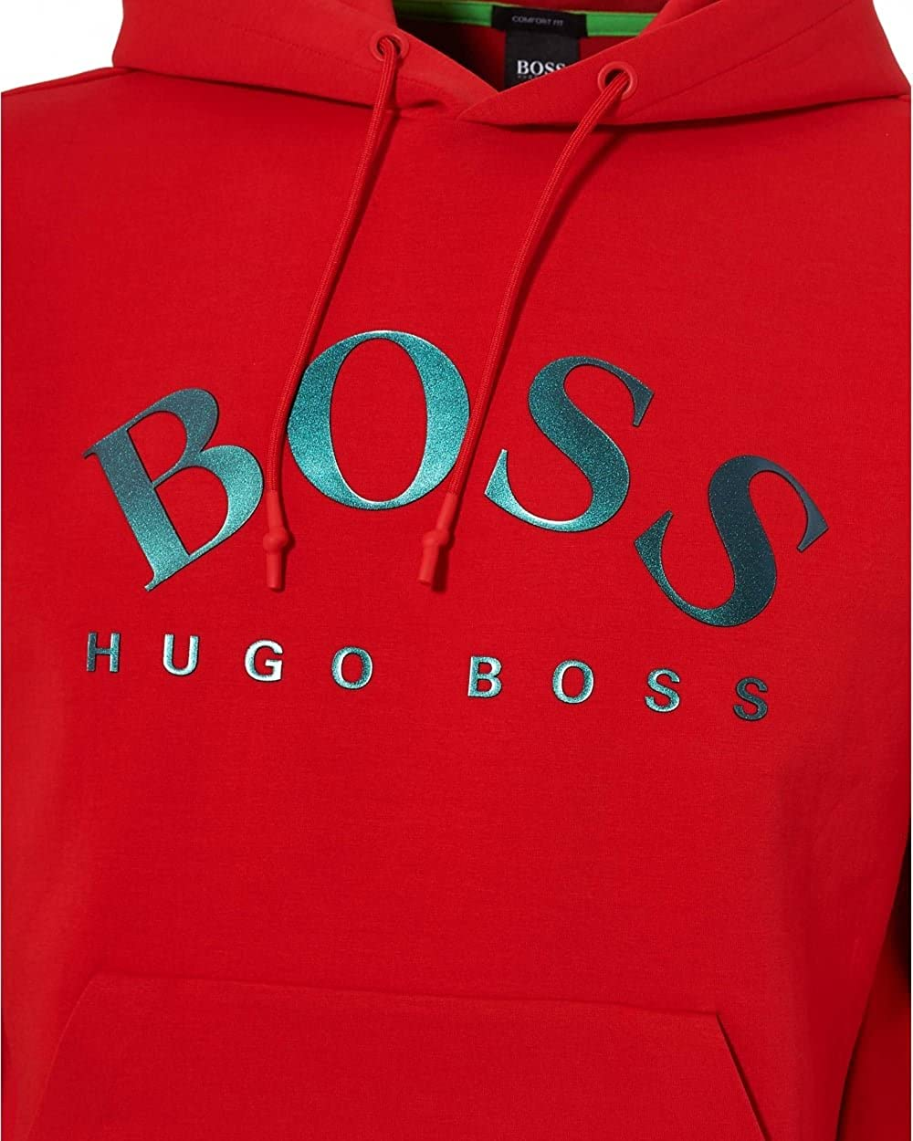 68ac478f Hugo Boss Green Mens Sly Sweat, Overhead Red Hoodie XL Red: Amazon.co.uk:  Clothing