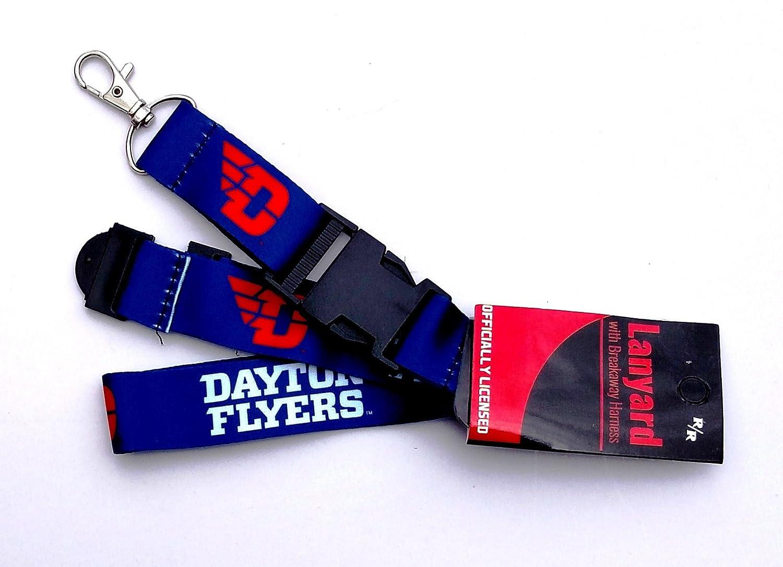Dayton Flyers新しいロゴRRデラックス両面Lanyard BreakawayクリップW / Jフックキーチェーンの大学 B075R34HW8