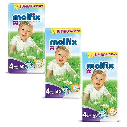 "Pañales tamaño 4 ""Maxi"" Molfix bebé pañales Jumbo Pack ..."