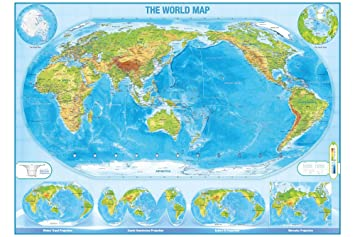 Buy World Map Wall Paper Large Size Ship Routes Major Cities
