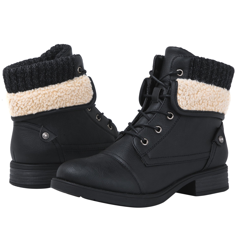 Globalwin 1815 Women's Ankle Fashion Boots (8 M US Women's, 1815 Black)
