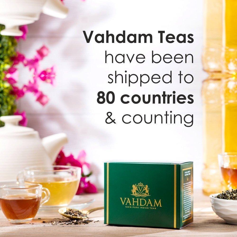 India's Original Masala Chai Tea Loose Leaf (200+ Cups) | 100% NATURAL INGREDIENTS | Black Tea, Cinnamon, Cardamom, Cloves & Black Pepper | Brews Chai Latte | Ancient Indian House Recipe | 16oz Bag by VAHDAM (Image #5)