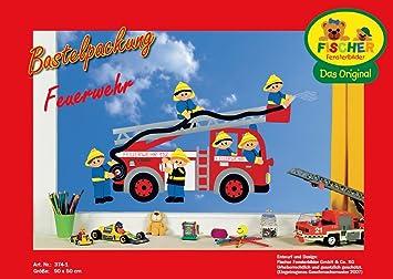 Fischer Fensterbild Feuerwehr Bastelpackung 90x50 Cm Zum