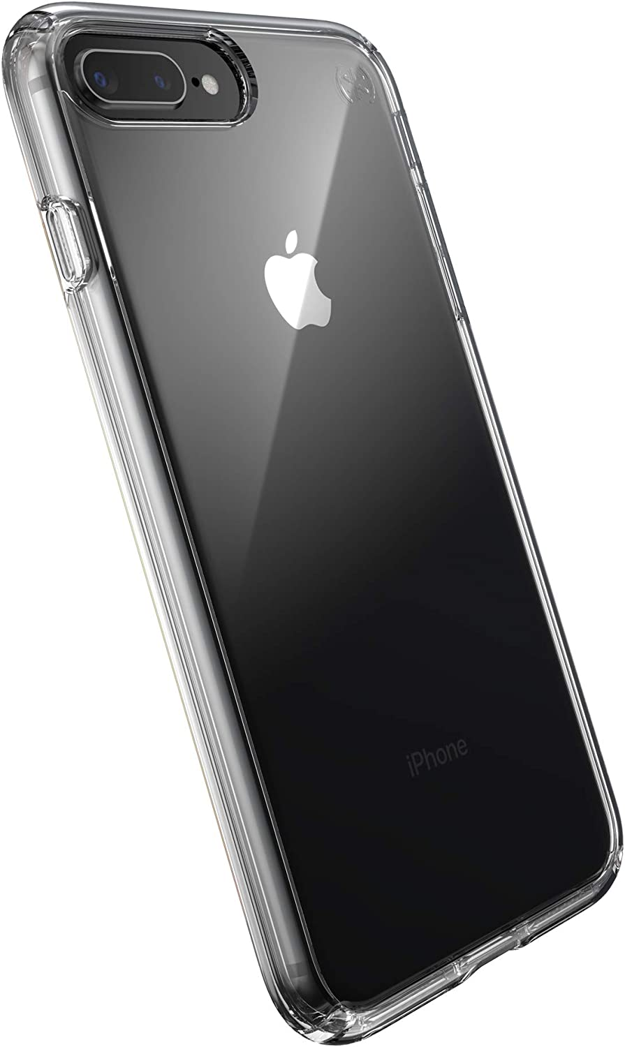 Speck Products Presidio Perfect-Clear iPhone 8 Plus/iPhone 7 Plus Case, Clear/Clear (136225-5085)
