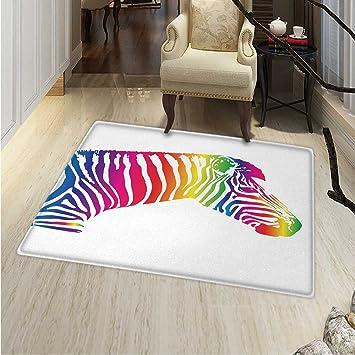 Amazon.com: Safari Rugs Bedroom Zebra Portrait in ...