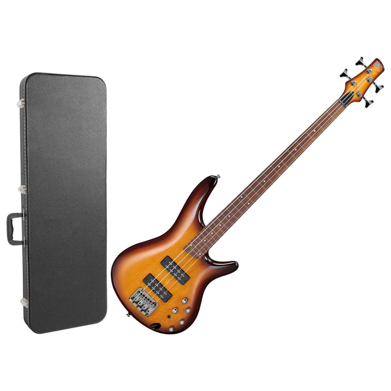 Ibanez SR370EFBBT 4 String FRETLESS Electric Bass Guitar Brown Burst w/ Hard Case