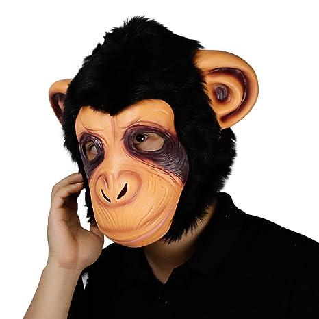 molezu Máscara de Mono, Disfraz de Halloween, Fiesta de Látex, Animal, Gorilla, Máscara para Adultos: Amazon.es: Productos para mascotas