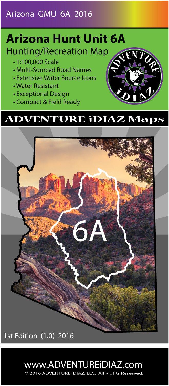 Unit 6a Arizona Map.Arizona Hunt Unit 6a Map Exceptional Design And Readability 1