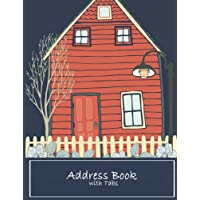 """Address Book with Tabs: Email Address Book And Contact Book, with A-Z Tabs Address, Phone, Email, Emergency Contact, Birthday 120 Pages large print 8.5"""" x 11"""""""
