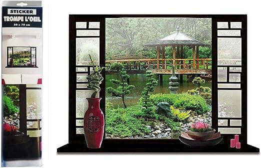 Asie - Pegatina con diseño de jardín Zen japonés: Amazon.es: Hogar