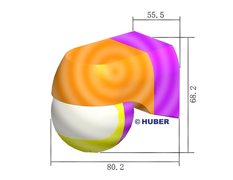 Detector de Movimiento 180 /° Contacto Libre de potencial 12-24 V AC DC HUBER Motion 3LV Delgado Blanco Ajustable Horizontal y verticalmente