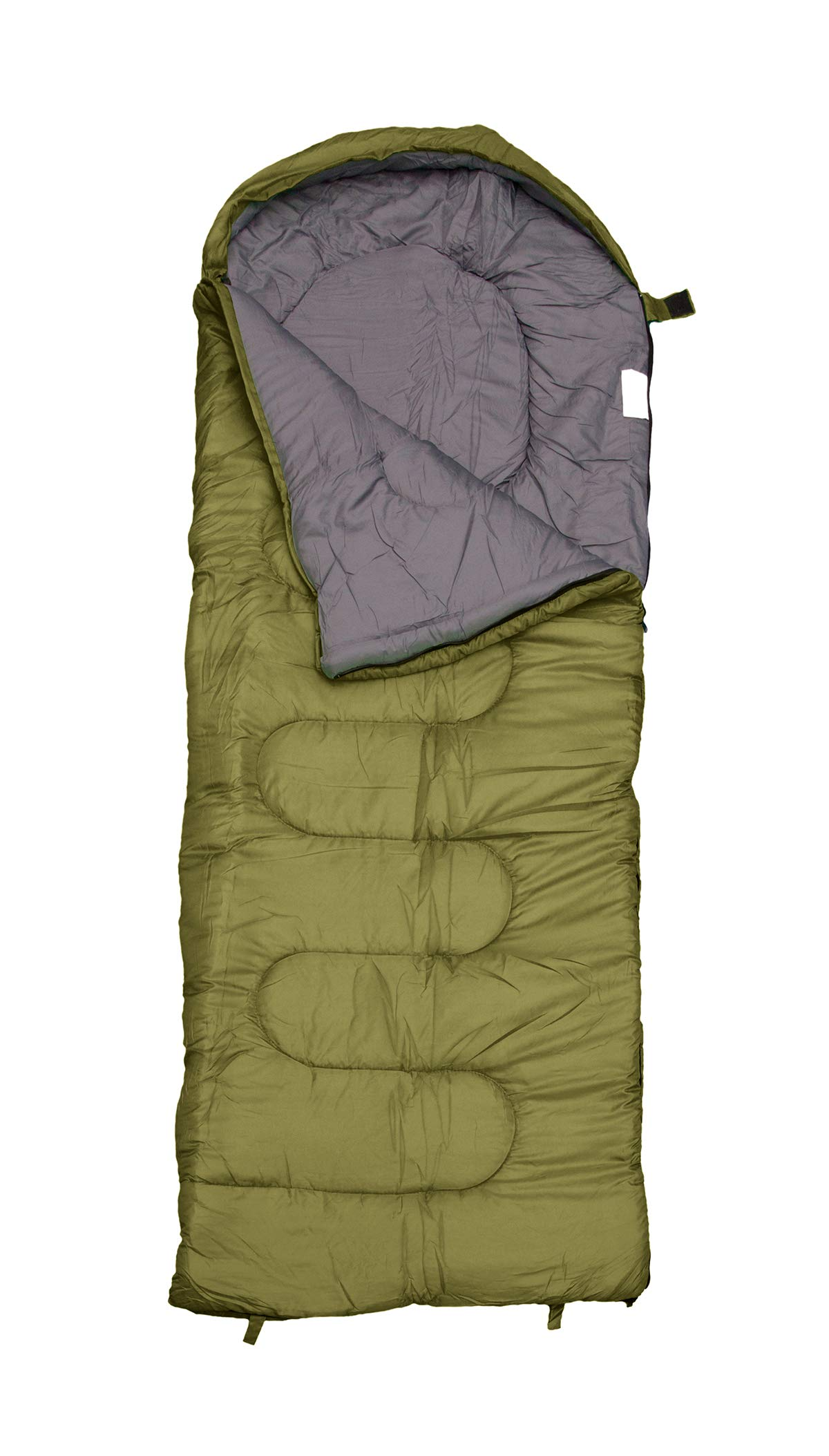 REVALCAMP Sleeping Bag for Cold Weather - 4 Season Envelope Shape Bags by Great for Kids, Teens & Adults. Warm and Lightweight - Perfect for Hiking, Backpacking & Camping 4