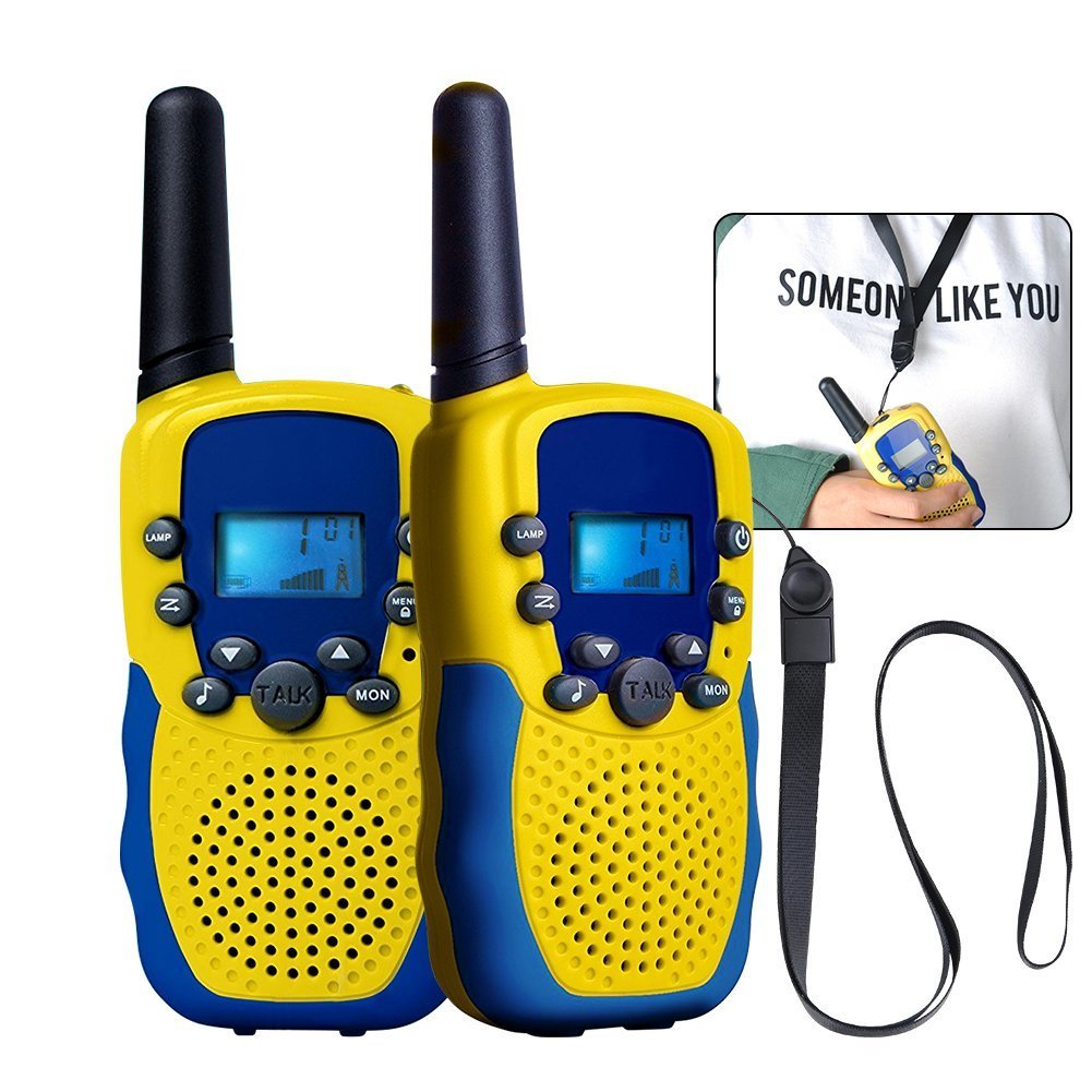 Walkie Talkies with Hanging Straps for Kids, Kingtoys Two Ways Radios Toy, 3+ Mile long Range, 2 Pack