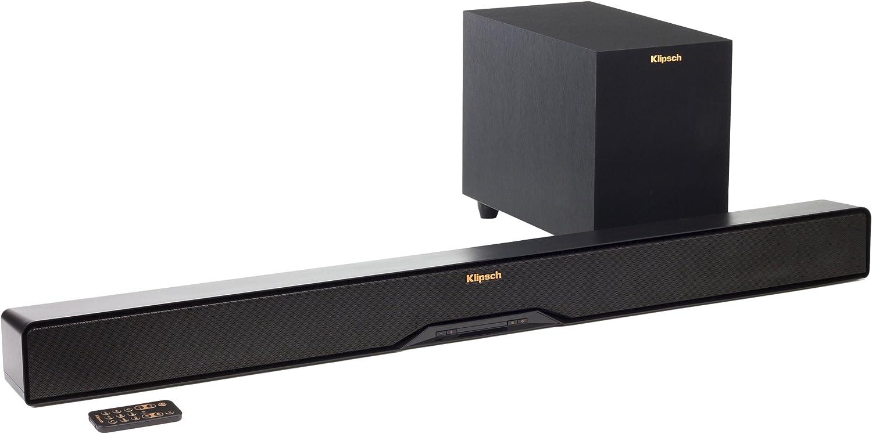Klipsch R-4B - Barra de sonido (2.1, inalámbrico, 106 dB), color negro