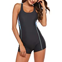 Ekouaer Competive Swimsuit One Piece Swimming Suit Women