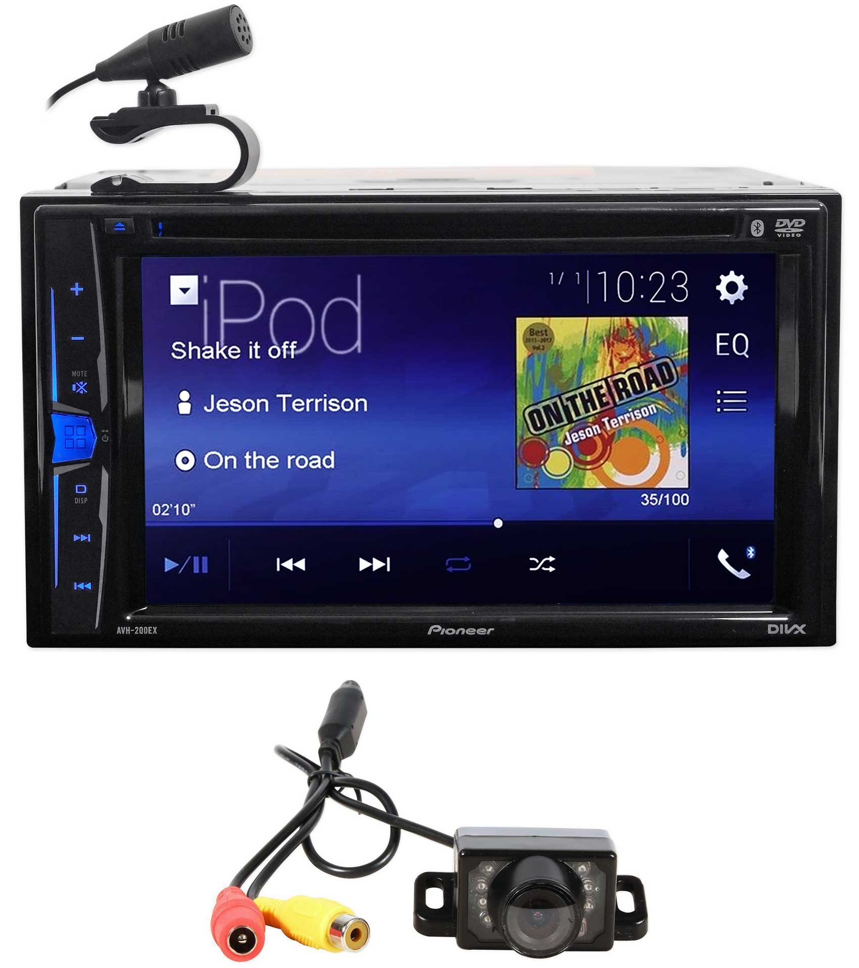 Pioneer AVH-200EX 6.2'' Car DVD/CD Bluetooth Receiver iPhone/Android/USB+Camera