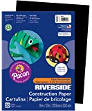 Pacon Construction Paper, 9-Inches by 12-Inches, 50-Count, Black (103607)