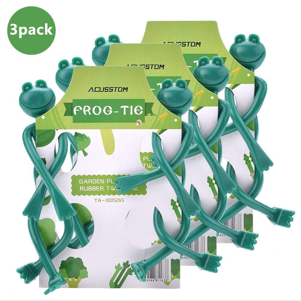 ACUSSTOM Rubber Twist Ties Plant Locks Plant Twist Ties in Brown and ...