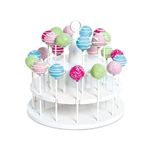 Bakelicious 73861 Cake Pop Stand, 24-Piece, White