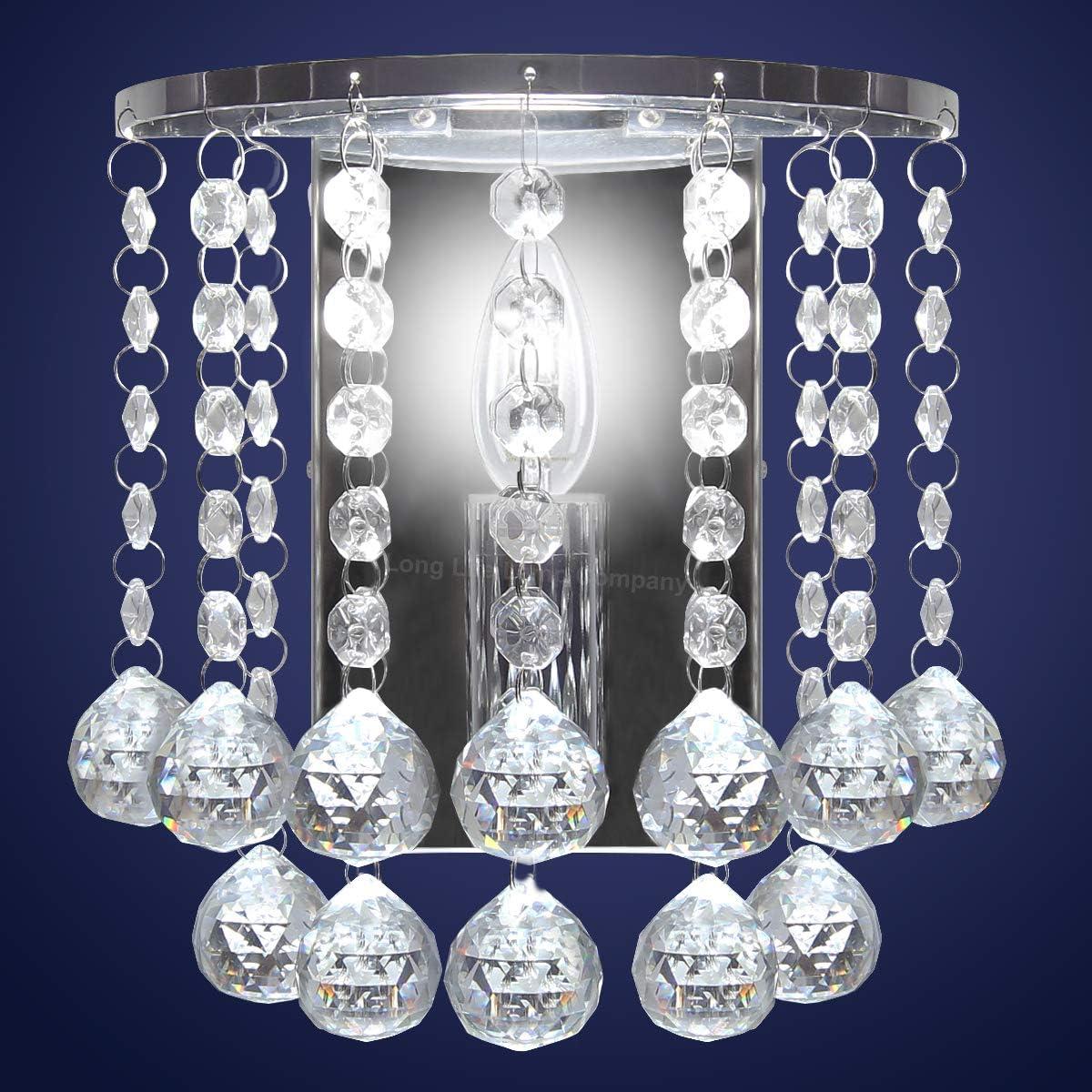 Details about Modern LED Crystal Droplet Chandelier Elegant Ceiling Wall Light Decor Lights UK