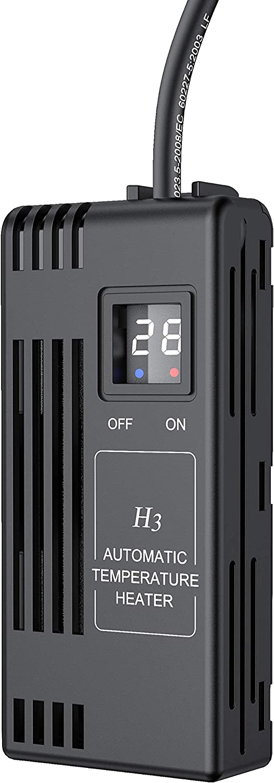 NICREW 50W Riscaldatore per Acquario Tartarughe, Temperatura Regolabile da 20 a 34 ℃ con Controller Esterno, Acquario Fino a 50L