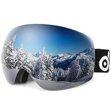 Amazon.com: Odoland Gafas de esquí esféricas grandes sin ...