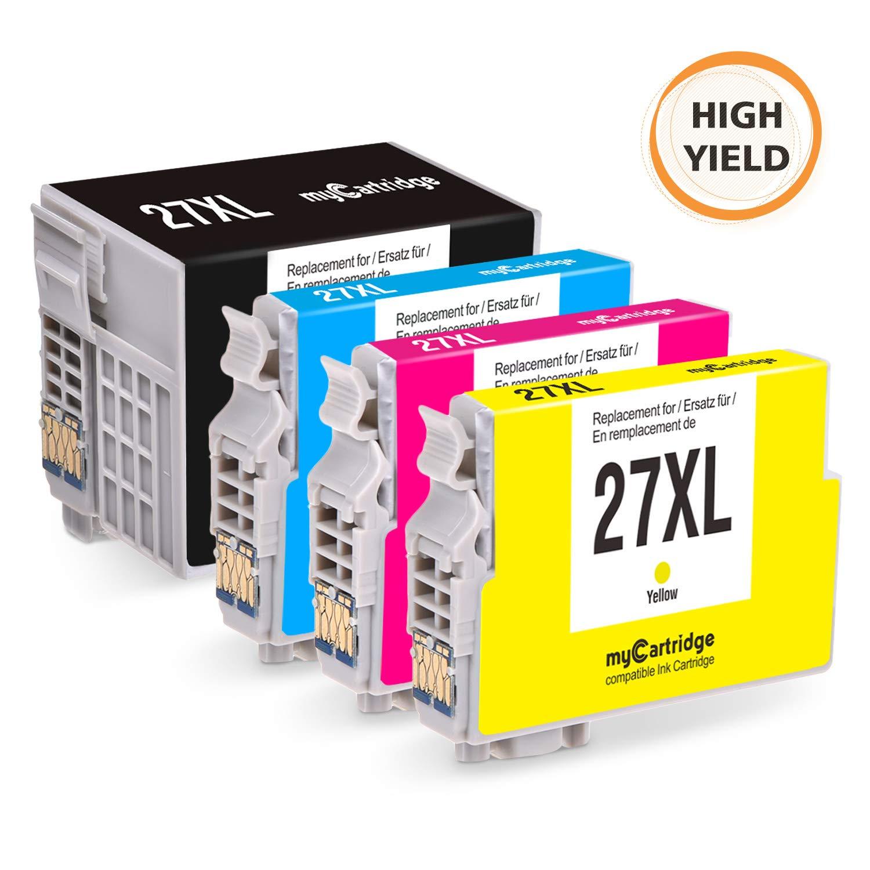 MyCartridge compatibles Epson 27XL Cartuchos de Tinta para Epson ...