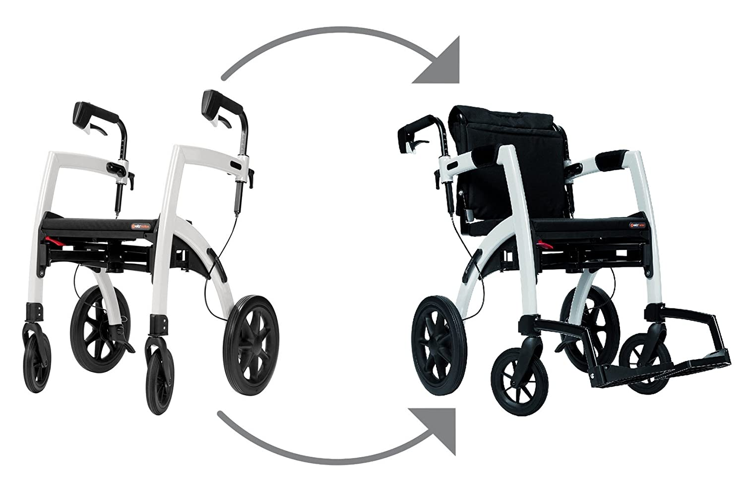 Amazon.com Rollz Motion 2-n-1 Rollator Transport Chair (Cool Gray) Health u0026 Personal Care  sc 1 st  Amazon.com & Amazon.com: Rollz Motion 2-n-1 Rollator Transport Chair (Cool Gray ...