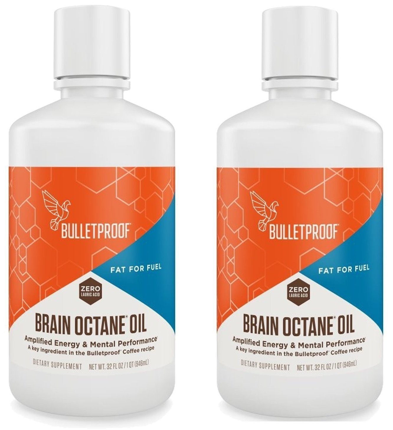 Bulletproof Brain Octane Oil 32oz (Pack of 2)