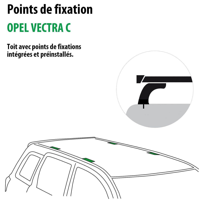 Kit completo Rameder, barras de techo Flush para Opel Vectra C (120370 - 04865 - 2-FR): Amazon.es: Coche y moto