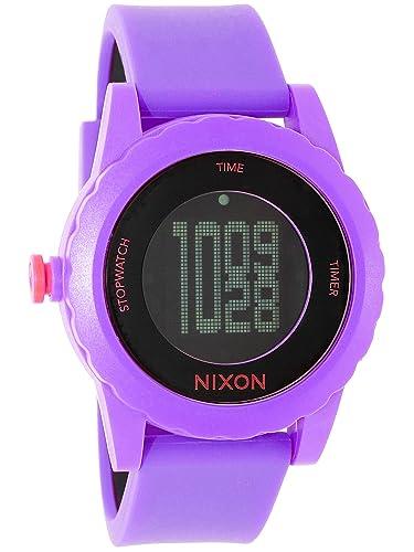 Nixon A326230-00 - Reloj digital de cuarzo para mujer con correa de silicona, color morado: Nixon: Amazon.es: Relojes