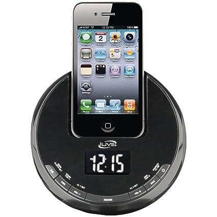 iLive ICP101B Reloj Digital Negro - Radio (Reloj, Digital, FM, LCD,