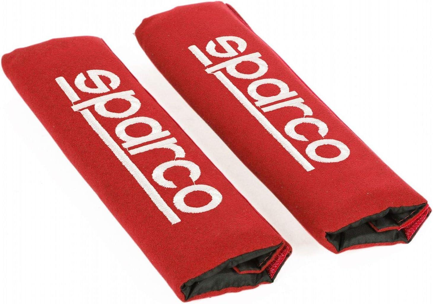 Schwarz /& SPC1204RD Sicherheitsgurt Gurt Protektor Auto Reisen 2 Einheiten Rot Set of 2 Sparco SPC0103 Schaltkn/äufe Racing