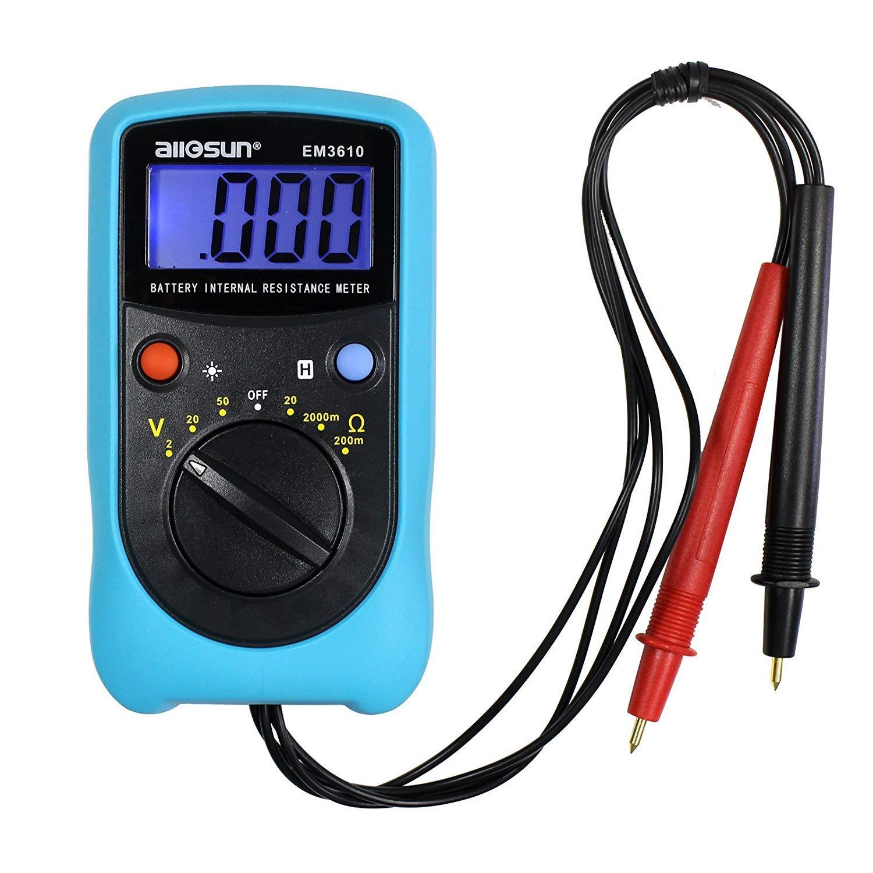 ALLOSUN Battery Internal Resistance Meter//Battery Voltage Tester//Digital Battery Analyzer
