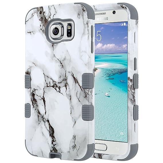 amazon com ulak galaxy s6 case, shockproof hybrid case fit forulak galaxy s6 case, shockproof hybrid case fit for galaxy s6 3in1 hard pc soft