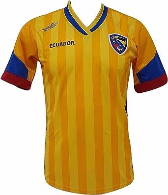 Ecuador fútbol camiseta de los hombres de la nueva Copa América 2016 Diseño exclusivo: Amazon.es: Ropa y accesorios