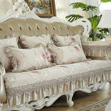 Amazon.com: Funda de sofá de encaje bordada, funda de sofá ...