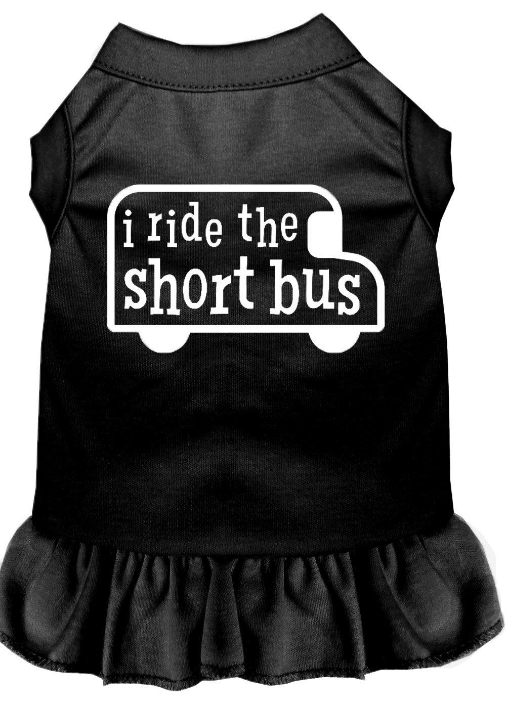 Mirage Pet Products 57-48 XXXLBK Black I Ride The Short Bus Screen Print Dress, 3X-Large